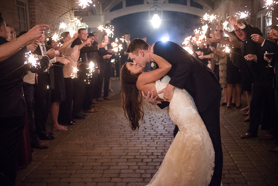 Great River Golf Club Wedding Photographer Captures Sparkler Wedding Exit