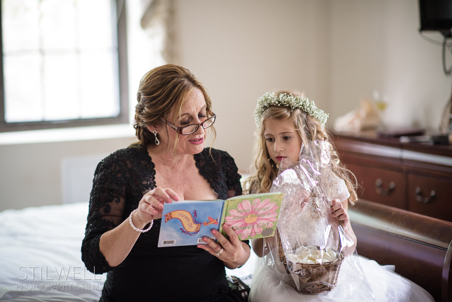 Flower Girl and Grandma West Point Thayer Hotel Wedding Stilwell Photography & Films