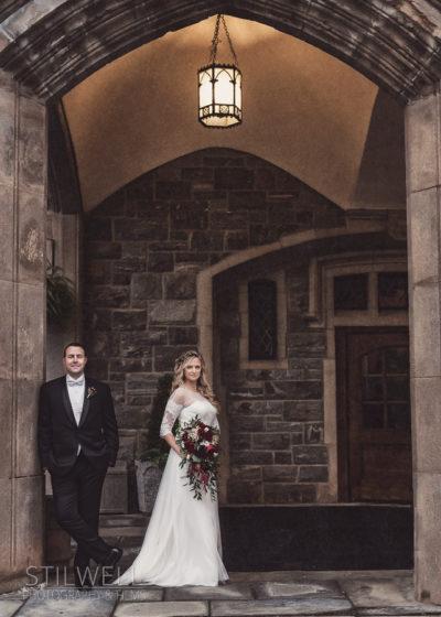 Thayer Hotel at West Point Wedding Portrait Stilwell Photography