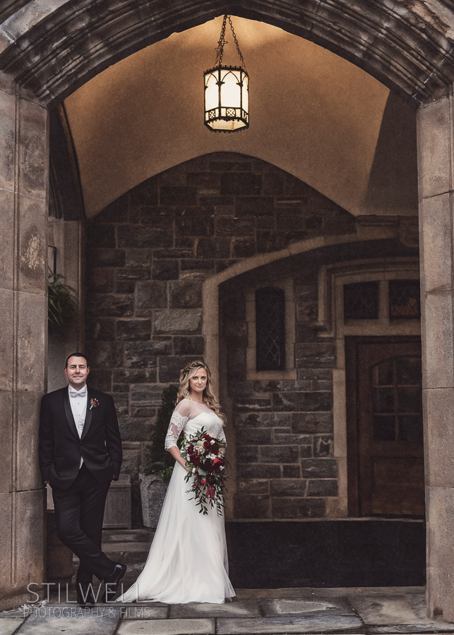 Thayer Hotel at West Point Wedding Portrait Stilwell Photography