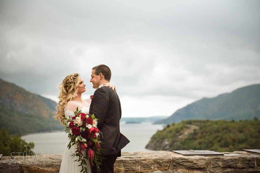 Trophy Point Wedding Portrait West Point NY Alisa Stilwell Photography