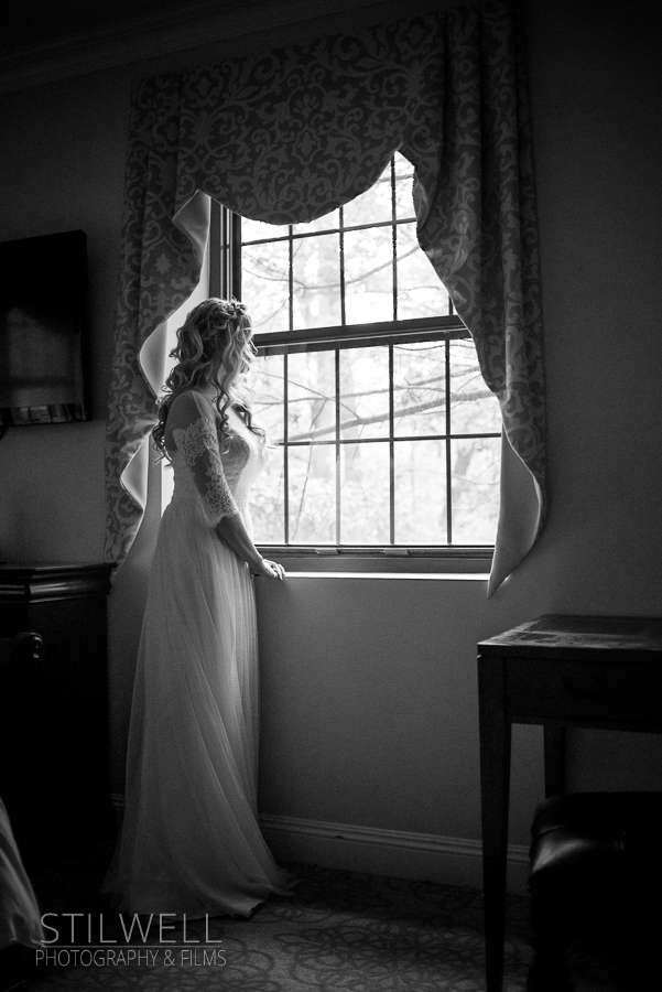 Window View Thayer Hotel Wedding West Point NY Stilwell Photography