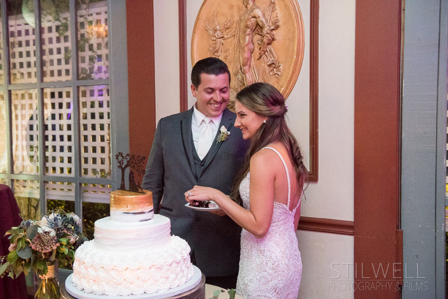 Cake Feast at Round Hill Wedding Photography