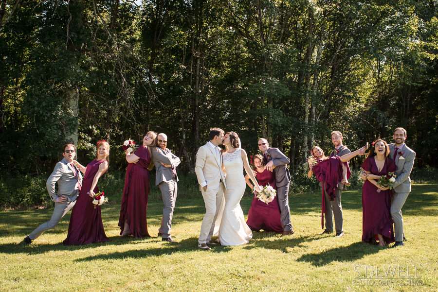 Bridal Party Fun Hudson Valley Wedding