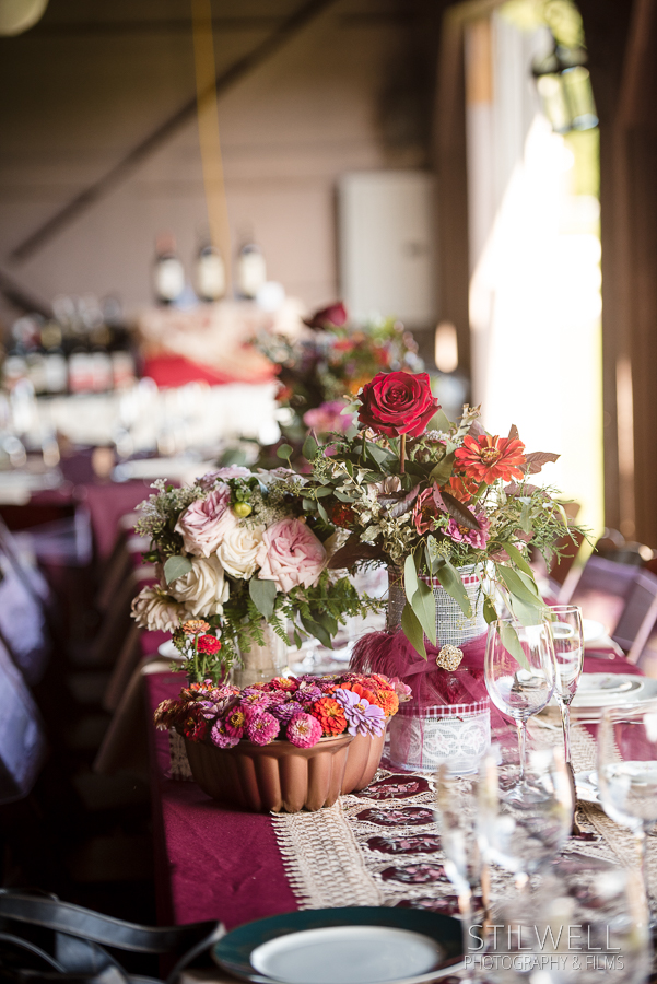Floral Centerpieces NY Hudson Valley Wedding
