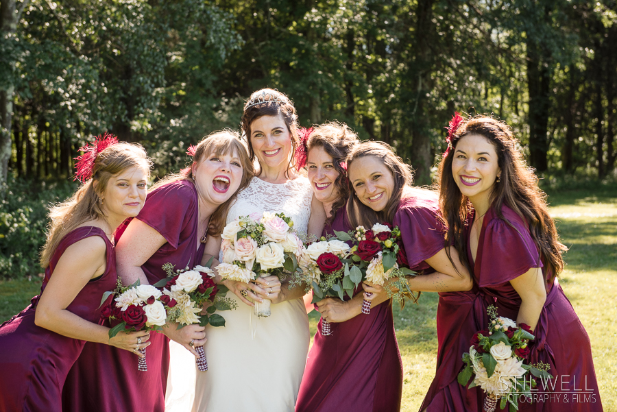 Fun Bridal Party Hudson Valley Wedding Photographer