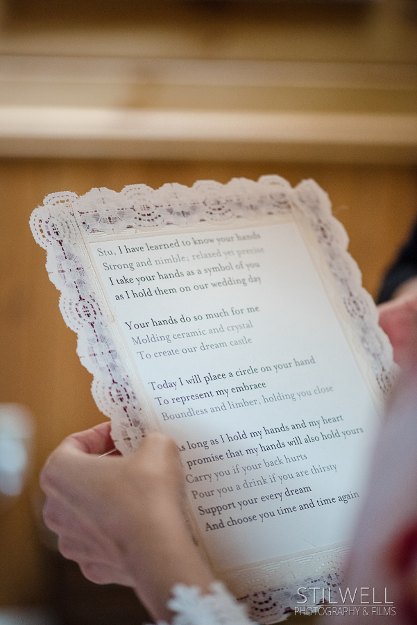 Wedding Vows Hudson Valley NY Photo
